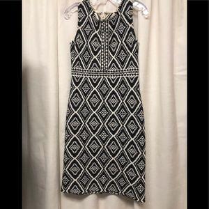 St John Black/white knit dress Size 8